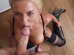 Daynia Blond Be alive Babe POV Sex Video