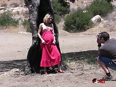 Amina Sky- Photoshoot Burned Tree - Amina Sky
