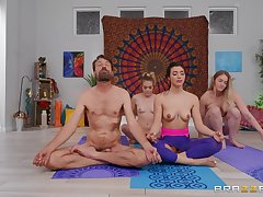Sensual Yoga lesson porn scenes after this chick sucks dick