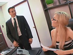 Big-busted amateur secretary is alright with getting laid at the office