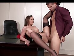 Ass Fucking Copulation In The Office With A Gorgeous Secretary