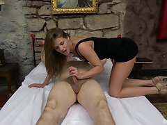 Old man required up added to gets his stiff dick pleasured by a sexy main